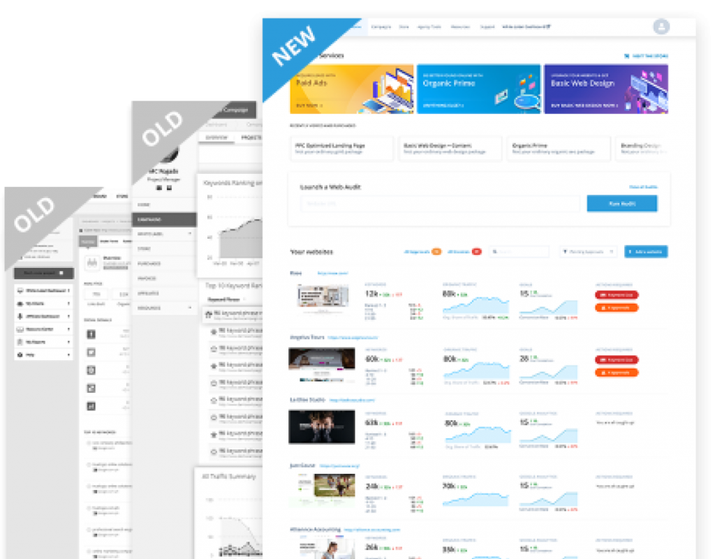 The new SEOReseller Dashboard