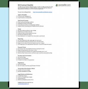 SEO Contract Checklist