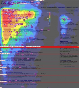 Google search results heatmap