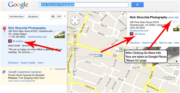 Map result with Google Local Places Integration