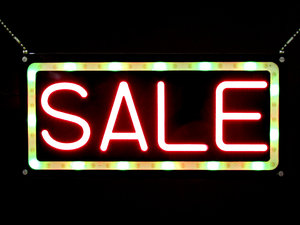 Neon For Sale Sign