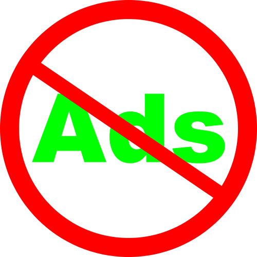 Ads Not Allowed