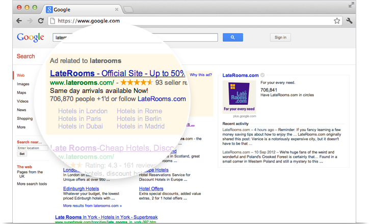 Google AdWords and Google+ Integration