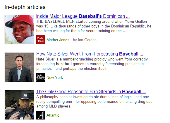 Google Introduces 'In-Depth Articles' to their Search Results