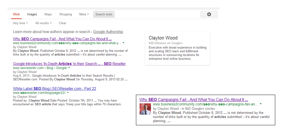 Google Answers Authorship Advanced FAQs