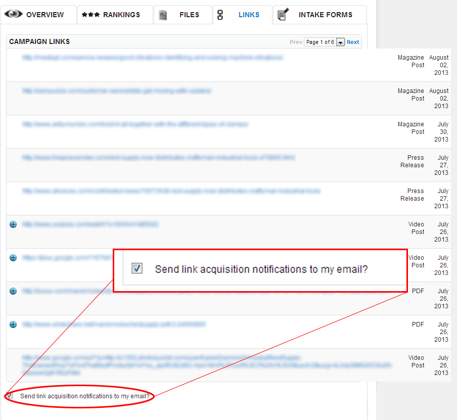 New Feature: Introducing Our Link Notification Service