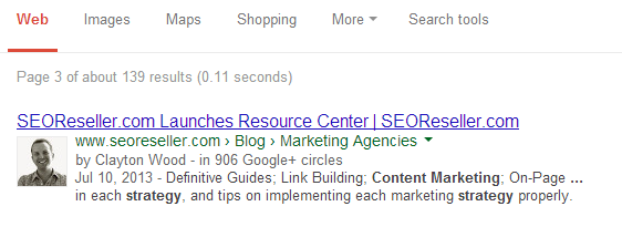 Google Authorship helps increase your online authority.