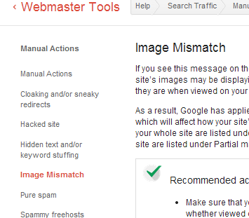 "Google Rolls Out New ""Image Mismatch"" Manual Action Penalty"