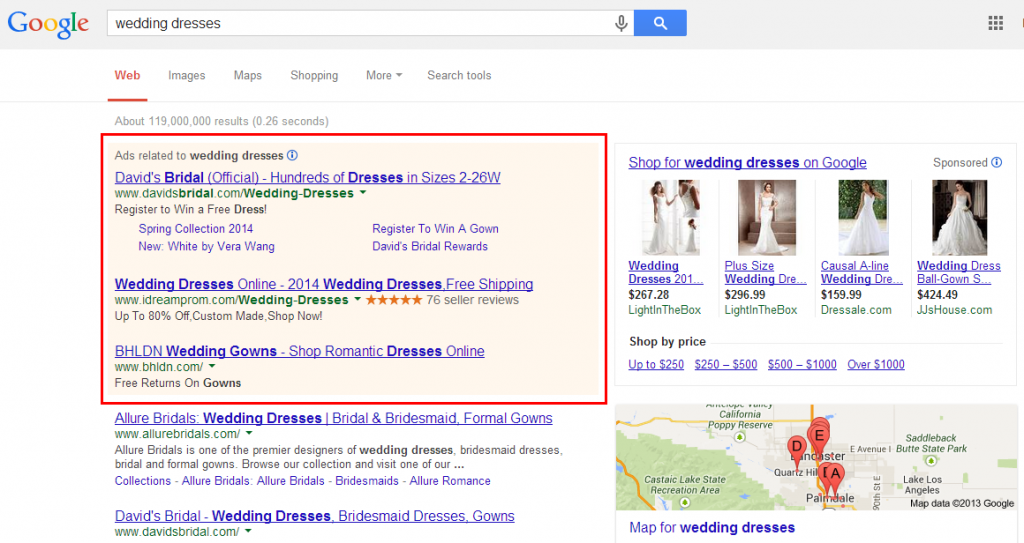 Prepare your PPC text ads (seen in the image) and display ads with the help of these simple tips.