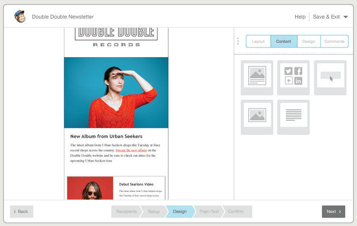 Mailchimp features responsive designs that display well on both desktop and mobile