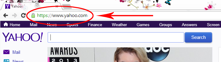 Searches done on Yahoo.com now go through secure servers by default