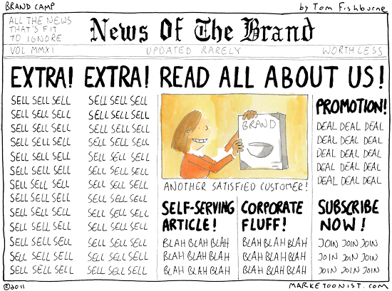 """News of the Brand"" comic by Tom Fishburne"