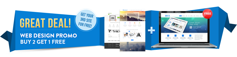 """""""Buy 2, Get 1 FREE"""" Web Design Promo: First 20 Customers ONLY!"""