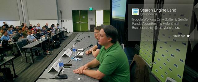 Matt Cutts announces new Google Panda update at SMX West