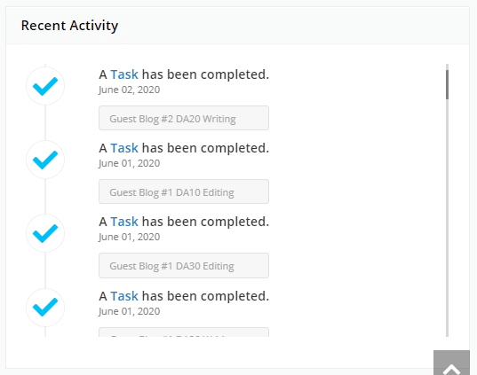Track tasks and activities