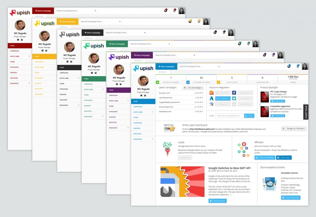 Branded and Clean User Interface