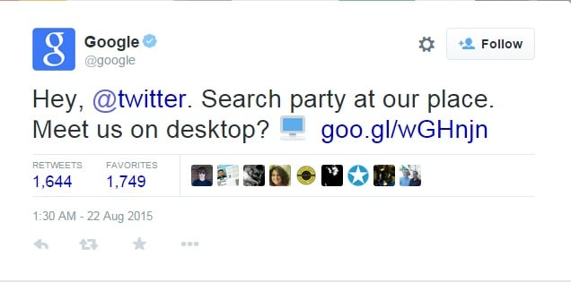Tweets on Desktop Google Search
