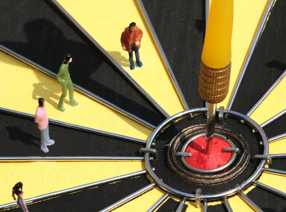 Target mark dart board