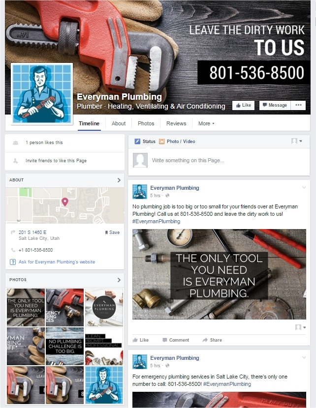 See the live Facebook Profile: Everyman Plumbing Plumber · Heating, Ventilating & Air Conditioning