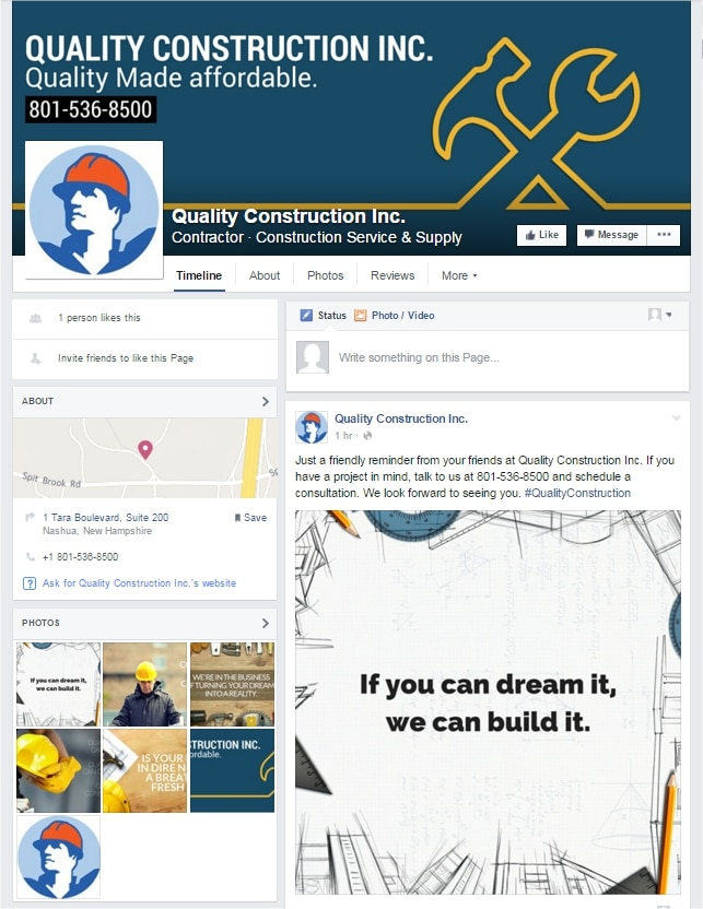 See the live Facebook Profile: Quality Construction Inc. Contractor · Construction Service & Supply