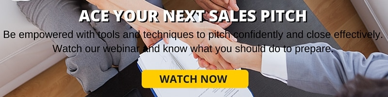 ACE YOUR NEXT SALES PITCH banner
