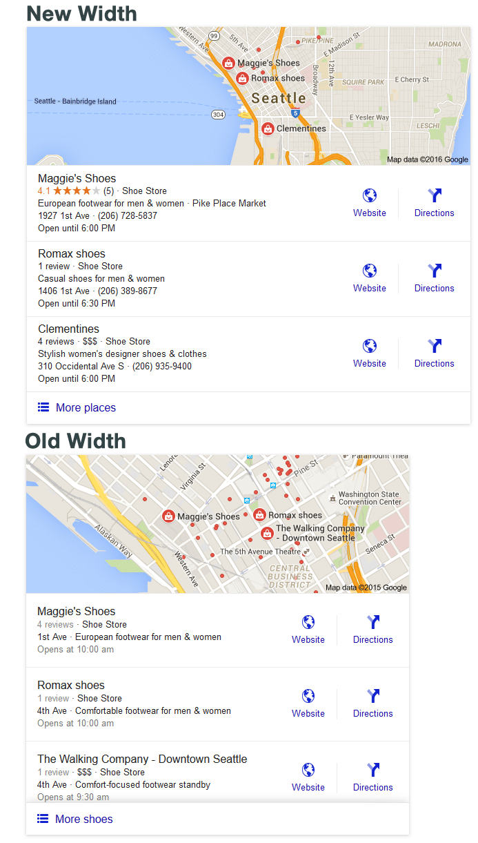 New and Old Width of Google Search Results