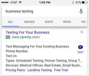 AdWords Click to SMS Roundup SEOReseller