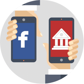 Drive traffic from Facebook to the online banking website