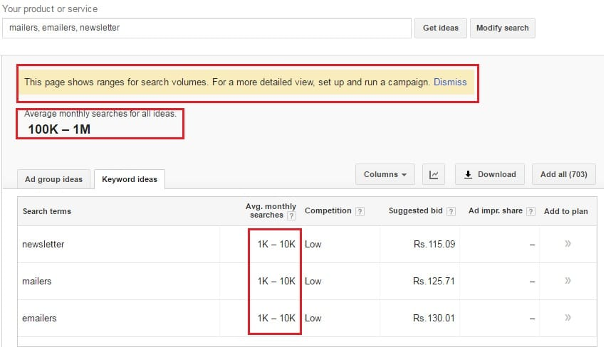AdWords Keyword Planner Limits Roundup SEOReseller
