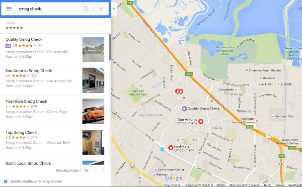 Local Map Ads