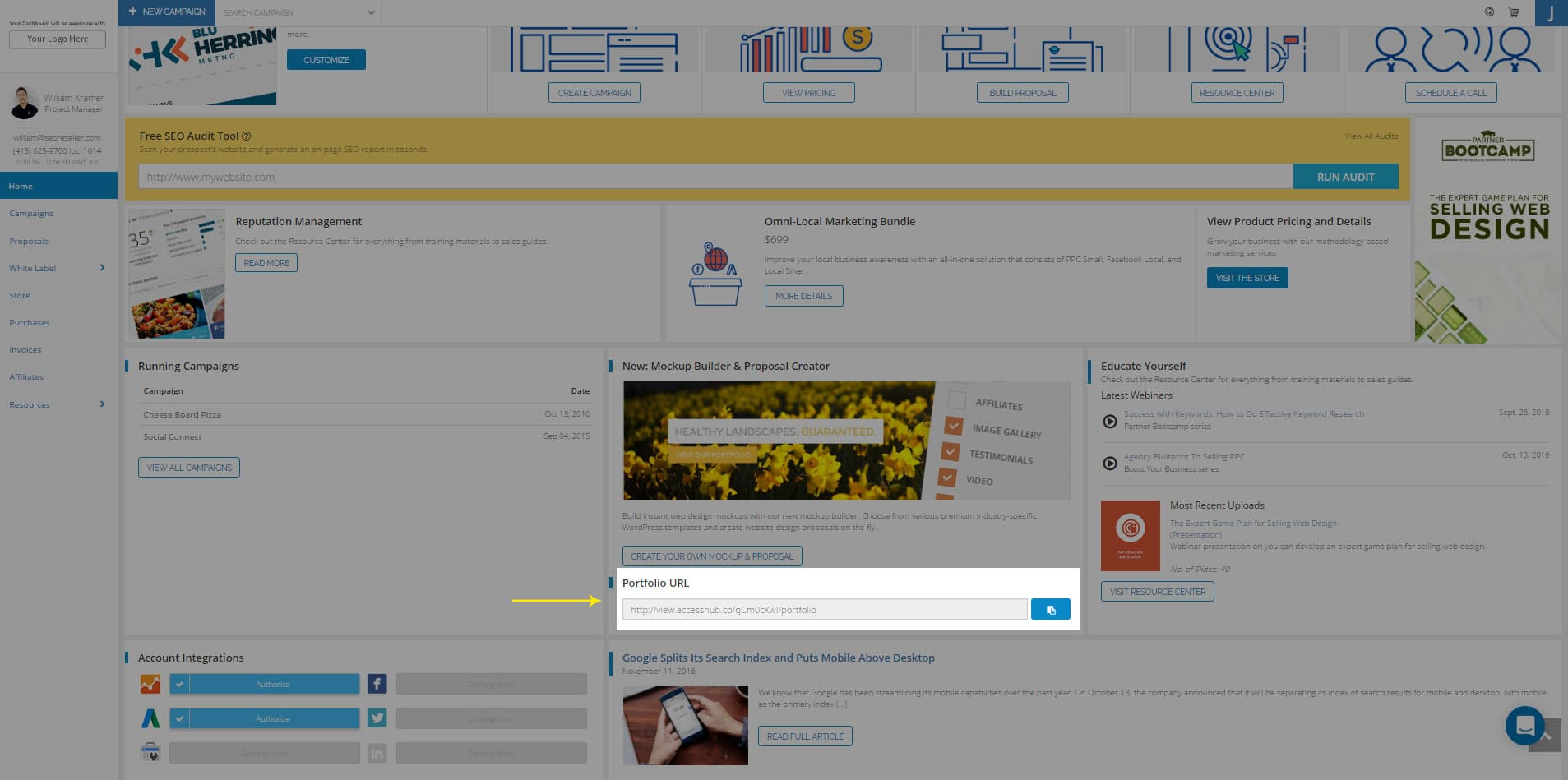 Whitelabel Web Dev Portfolio