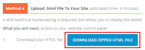 Method 4 - Download Zipped HTML File