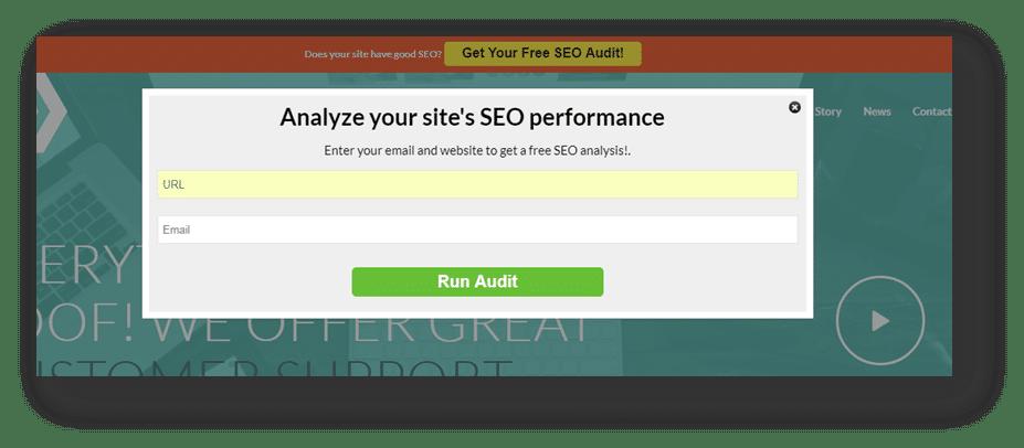 on-site audit widget