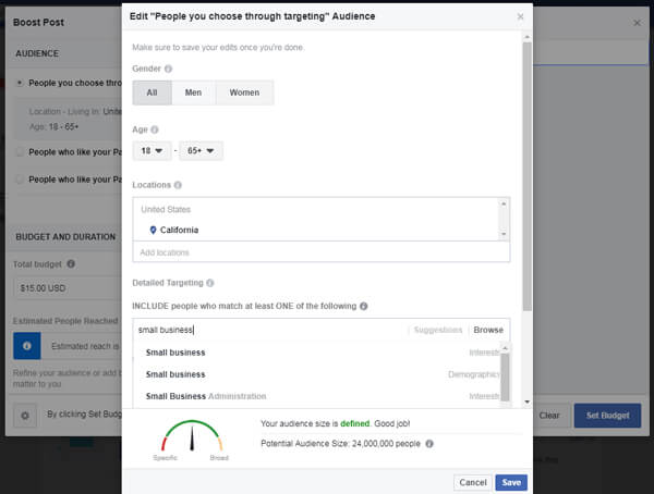 Boosting Post Facebook - Content Strategy
