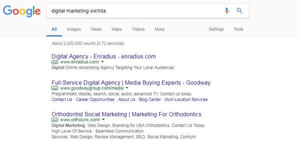 Google AdWords - Search Engine