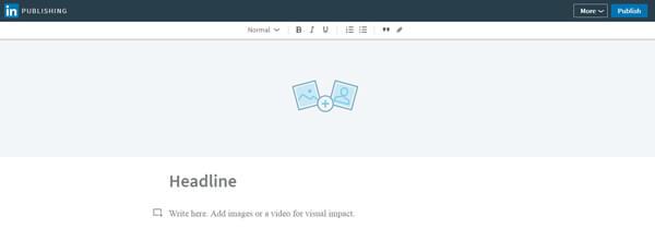 LinkedIn Publishing - Form of Content