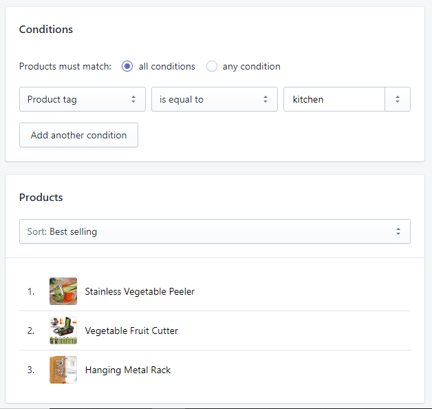 Sample-Shopify-Automated-Collections-and-Product-Tag