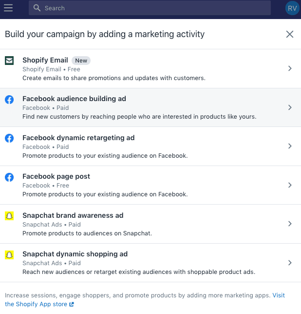 how to connect shopify to facebook