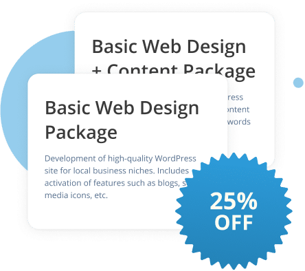 25% Off Our Website Development Products