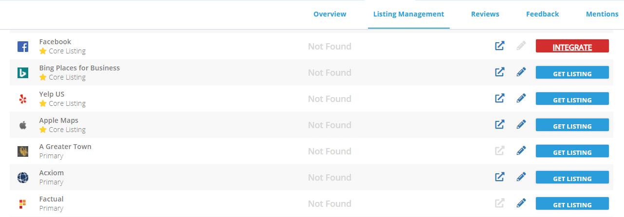Reputation Management - Listings
