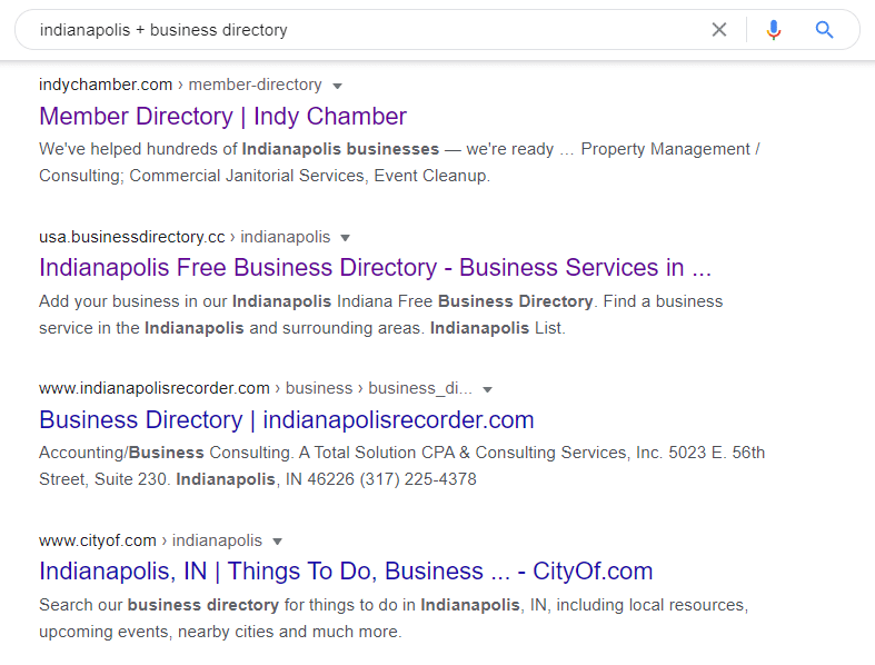 Search for Local Business Directory