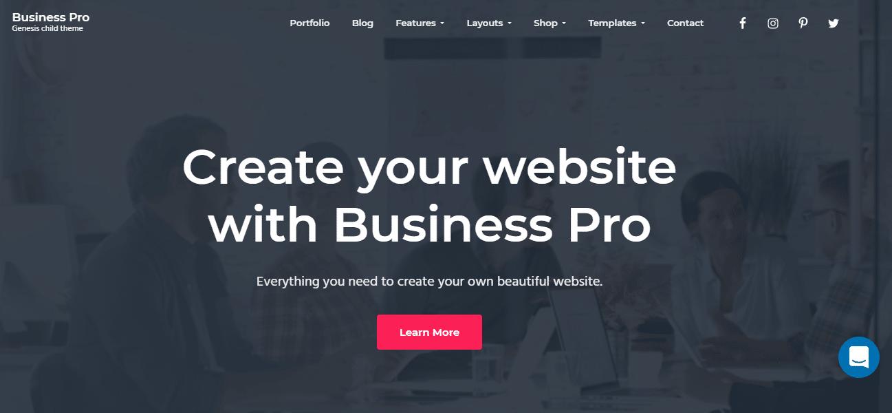 Business Pro Small Business WordPress Theme