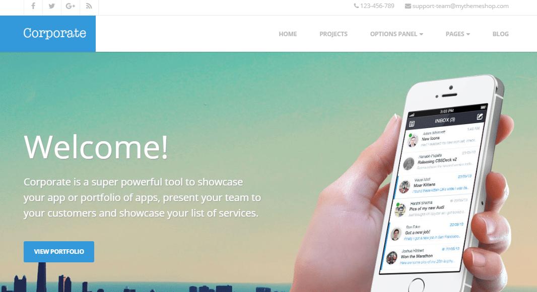 Corporate Small Business WordPress Theme