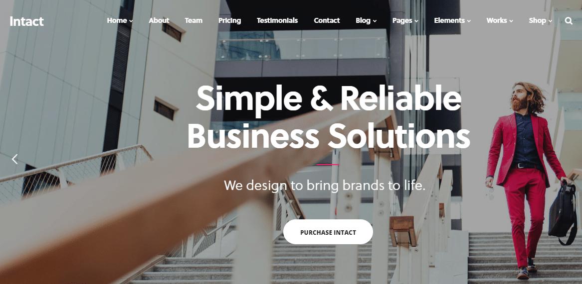 Intact Small Business WordPress Theme