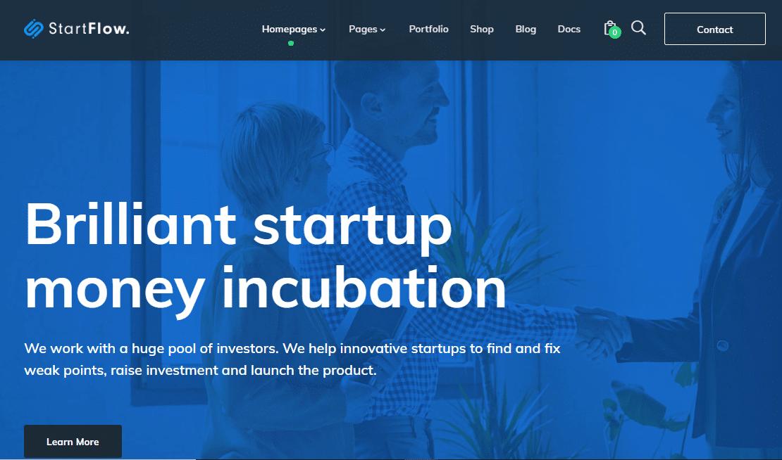 StartFlow Small Business WordPress Theme