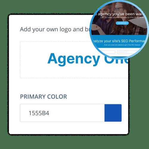 Agency website branding